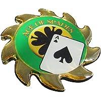 MRC pintada a mano de póquer Poker Card guard Cover Pantalla Spinner–Ace of Spades