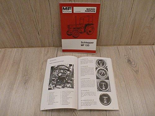Preisvergleich Produktbild Bedienungsanleitung MF Schlepper MF135 MF 135