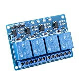 SeeKool 4 Kanal DC 5V Relaismodul Brett 5V Für Arduino UNO R3 Mega 2560 1280 DSP Arm Pic AVR STM32 Raspberry Pi