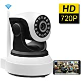 SDETER 720P IP Wireless Wifi Camera Plug/Play Pan/Tilt 2-Way Audio Night Vision Home Surveillance Security Alarm System(UK Edition)