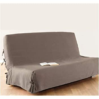 Housse de canapé clic-clac - 100 % coton - coloris TAUPE  Amazon.fr ... 55b45f3b97cd