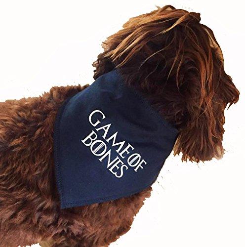 Spoilt Rotten Pets (S2) Game of Thrones Stil–Spiel der Knochen–Design Hund Bandana–Größe 2–Vier verstellbaren Größen erhältlich von A Tiny Chihuahua bis extra große ST BERNARD (Größe 2Small/Medium Dog–passt 27,9cm-40,6cm Hals)