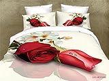 PZJ® Bettgarnitur 4-tlg, 1 Bettbezüge, Bettwaesche besteht mit 2 Kissenbezüge aus Microfaser