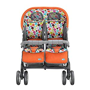 Baby Twin Stroller Buggy Pushchair- Double Stroller,Side by Side Double Pushchair, from Birth   3