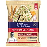 Saffola Fittify Gourmet Superfood Millet Upma, Power Breakfast, 8 X 50 g