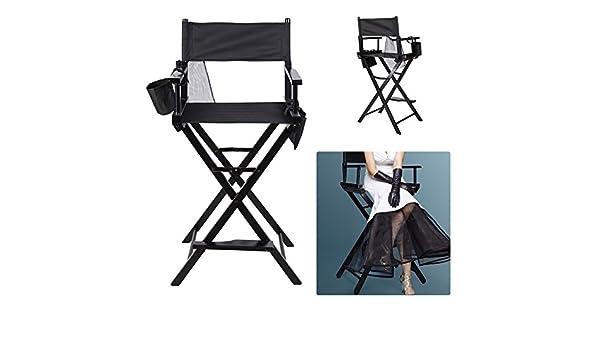 Homgrace sedia regista make up pieghevole poltrona sgabello alto