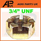 """APUK Front Hub Spindle Nut 3/4"""" UNF compatible with Fordson International Ford Massey Ferguson Tractor"""