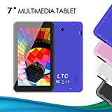 LeaningTech 7 Zoll 17,8cm 1,3GHz Android Google 5,1 *IPS* Bildschirm Tablet PC tablett Pad 8GB WiFi Wlan Quad Core Dual Kamera 1024x600 Auflösung Auch für Kinder Lila