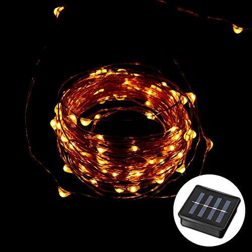 hterkette OD Kupfer Draht Strang Party Xmas Fairy Solar Light Panel (Billige Halloween Dekoration)
