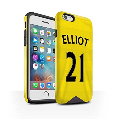 Offiziell Newcastle United FC Hülle / Glanz Harten Stoßfest Case für Apple iPhone 6+/Plus 5.5 / Wijnaldum Muster / NUFC Trikot Home 15/16 Kollektion Elliot