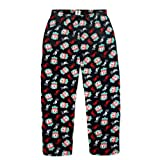 Liverpool FC Official Football Gift Mens Lounge Pants Pyjama Bottoms Black Medium