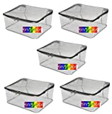 #8: DIVYANA Grey Clothes Cover Set - Pack of 5