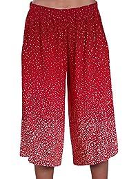 EyeCatch - Womens Wide Leg Modern Ladies Culottes Shorts Trousers Pants
