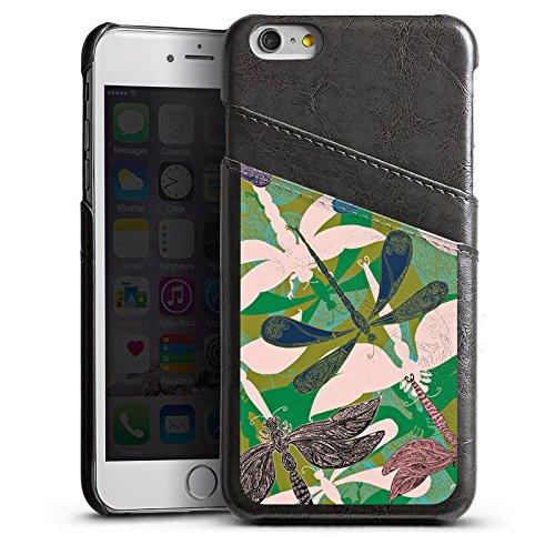 Apple iPhone 5s Housse Outdoor Étui militaire Coque Libellules Fleurs Fleurs Étui en cuir gris