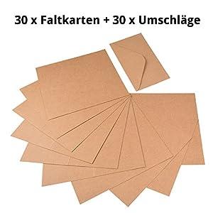 60piezas papel kraft-Set de tarjetas