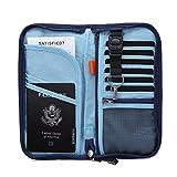 Cartera de viaje, de la marca Zoppen, para pasaportes y documentos, con protección RFID y correa extraíble Azul azul real