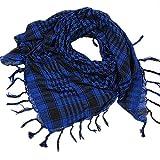 UJUNAOR Unisex Mode Frauen Männer Arab Palästina Schal Houndstooth Großer Quadratischer Shawl Wrap(Blau,One size)