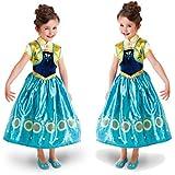 Disfraz de la Princesa ELSA ANNA de Frozen Vestido Niña (Talla 100 (3-4 años))