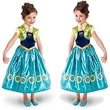 Disfraz de la Princesa ELSA ANNA de Frozen Vestido Niña (Talla 120 (5-6 años))