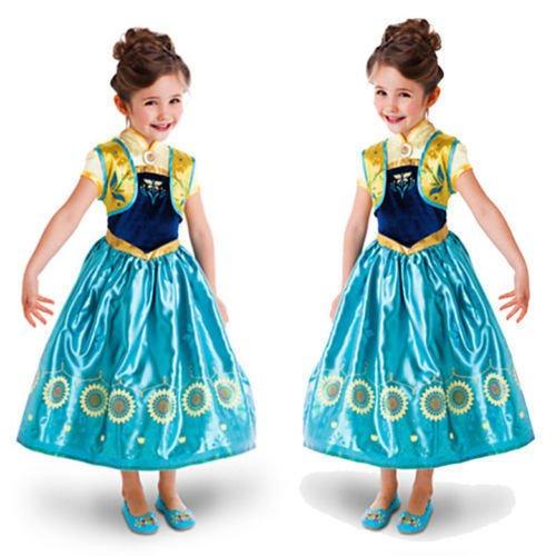 Imagen de disfraz de la princesa elsa anna de frozen vestido niña talla 110 4 5 años