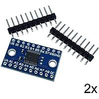 2x Logic Level Converter Shifter 8 Kanal Pegelwandler I2C IIC BiDirektional 5V~3.3V für Arduino Raspberry Pi Mikrocontroller
