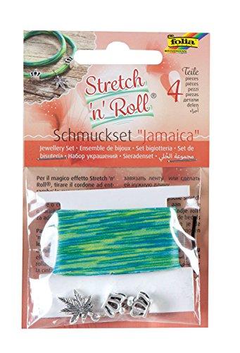 folia 93102 - Armbandbastelset Strech und Roll - Set Jamaica, mehrfarbig