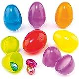 Baker Ross Lot de 12 Œufs en Plastique Coloré ouvrable - Idéal pour la chasse aux œufs de Pâques …