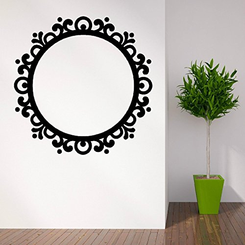 Imagen marco espejo redondo moderno vintage vinilo pared arte adhesivo