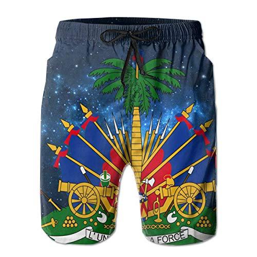 IconSymbol Starry Haitian Embassy Men's Summer Casual Drawstring Shorts Quick-Drying Beach Shorts Swim Trunks Surf Swim Trunks Shorts - Embassy Lounge