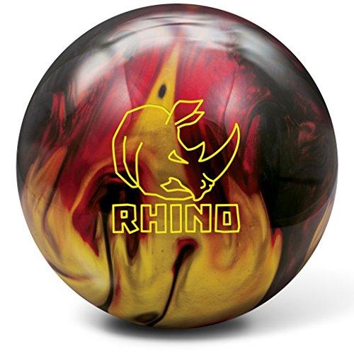Brunswick Bowlingball RHINO div Farben und Größen (Red/Black/Gold Pearl, 12 Lbs) (Storm 2-ball Bowling Tasche)