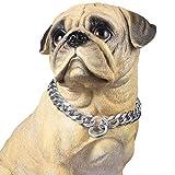 PROSTEEL Hundehalsband Starke Edelstahl Kette 19MM Kragen Panzerkette Trainings Kragen Halskette für Hund Silber Haustier Hals Seil, Länge 61cm