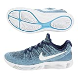Nike Luna repic Low Flyknit 2Scarpa da Corsa da Uomo, Azzurro, bianco