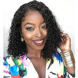 PURUN Lace Wig Human Hair Bob Court 10 pouce Perruque 13x4 Perruque Cheveux Naturels pour Black Pre Plcuked Hairline avec Bleached Knots Quality 10 pouce