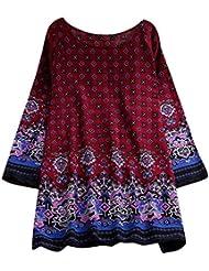 GNYD-Vestidos Fiesta Mujer Verano 2019 Mini Cuello Redondo Estampado Bohemio De Moda