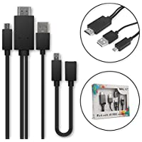 Cable MHL adaptador Micro-USB 5-Pin a HDMI, para HTC One M9 / One X / Sony Xperia Z1 / Z2 / Z3 / Z5, etc - 1,5m