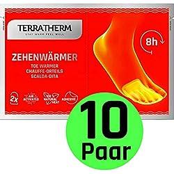 TerraTherm Chauffe Pieds Collants, 8 Heures de Chaleur, Chauffe Pied Chauffant Super Mince, confortablement Doux, Chauffe Pieds et chaufferettes, 10 Paires