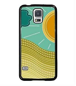 Fuson Sunshine Design Designer Back Case Cover for Samsung Galaxy S5 :: Samsung Galaxy S5 G900I :: Samsung Galaxy S5 G900A G900F G900I G900M G900T G900W8 G900K (Greenary Wood Rose Tiger Bee Bird)
