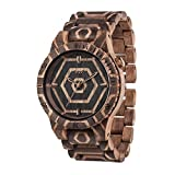 WEWOOD Orologio in legno unisex - Alpha Nature Beehive Nut
