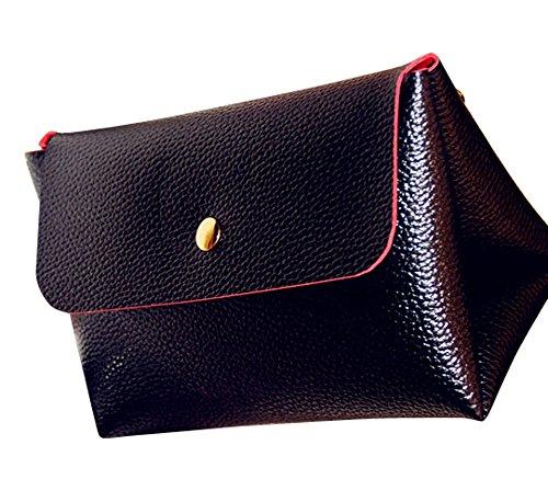 Remeehi, Borsa a tracolla donna, Orange (Arancione) - JXVV04611-5 Leather Black