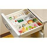 Organizador de cajón Separadores ajustables de cajones de cocina Almacenamiento de Cajón cocina, transparente, 1 pieza