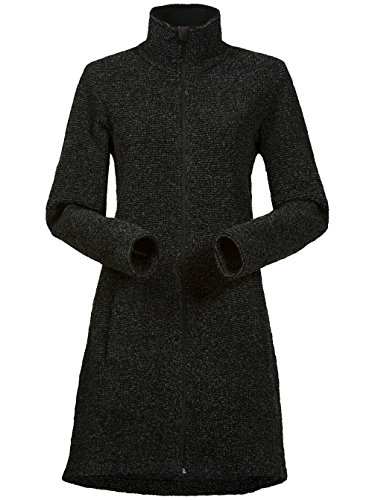 Bergans Tromso Wool Lady Coat - Damen Wollmantel black mel