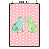 Mr. & Mrs. Panda Poster DIN A0 Frosch Liebe - 100% handmade in Norddeutschland - Freund, Hochzeitstag, Poster, Jahrestag, Geschenk Freund, Verlobung, Freundin, Froschkönig, Bild, Verlobt, Frosch, Frösche