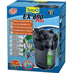 [Gesponsert]Tetra Aquarien Außenfilter EX 800 Plus (leistungstarker Filter für Aquarien von 100-300 L, Komplettset mit Ansaughilfe zum Schnellstart und Filtermedien)