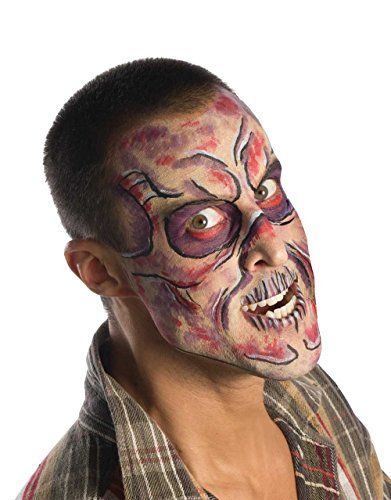 Halloween walking dead-makeup set-set completo con 1 pennello per eyeliner, in argento con 1 x nero, 1 x pennello per eyeliner, motivo: ombretti palette, 1 x rosso, 1 x spazzola per face painting