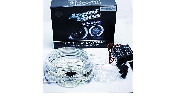 2 x 131 mm Canbus s/érie 3 E46 Compact TI//TD non Projector//R/éflecteur X3 E83 blanc 6000 K Angel Eye Halo Ring Kit cercles CCFL yeux dange 2 x 106 mm