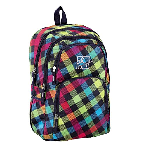 All Out Rucksack Kilkenny, rainbow check, 23 Liter, bunt -