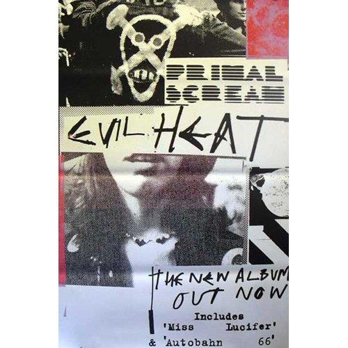 Primal Scream–Evil Heat–100x 150cm zeigt/Poster (Scream Heat Evil Primal)