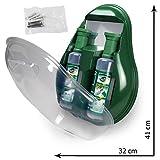 MedX5 Notfall Augendusche, Augenspülstation mit Spiegel, Augenspülung mit steriler Kochsalzlösung (0.9%), Augenspülmittel, Augenspüllösung, Augenspüler, Augenspülflasche