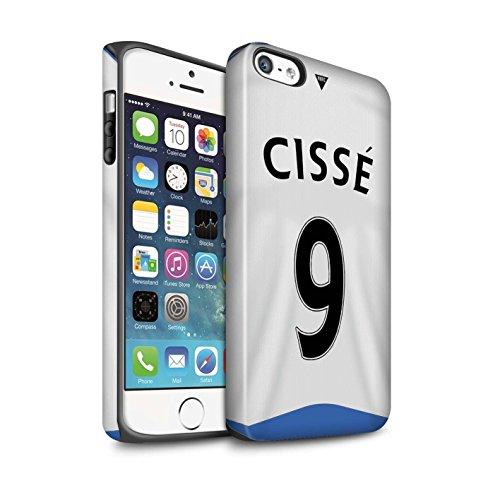 Offiziell Newcastle United FC Hülle / Matte Harten Stoßfest Case für Apple iPhone SE / Doumbia Muster / NUFC Trikot Home 15/16 Kollektion Cissé