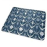 Premium Wickelunterlage, Blumenzwiebeln, Marineblau, waschbar, wiederverwendbar, atmungsaktiv, auslaufsicher, tragbar, 65 x 80 cm